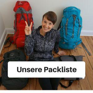 Unsere Packliste