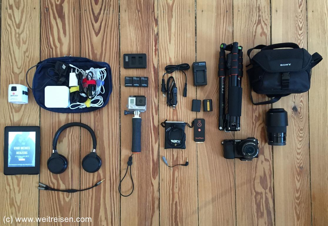 Weltreise Kamera und Technik