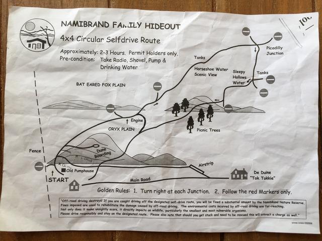 NamibRand Nature Reserve Lageplan