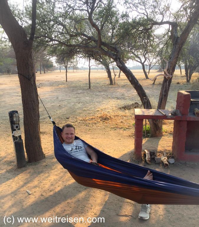 Hängematte Auszeit in Namibia Weitreisen