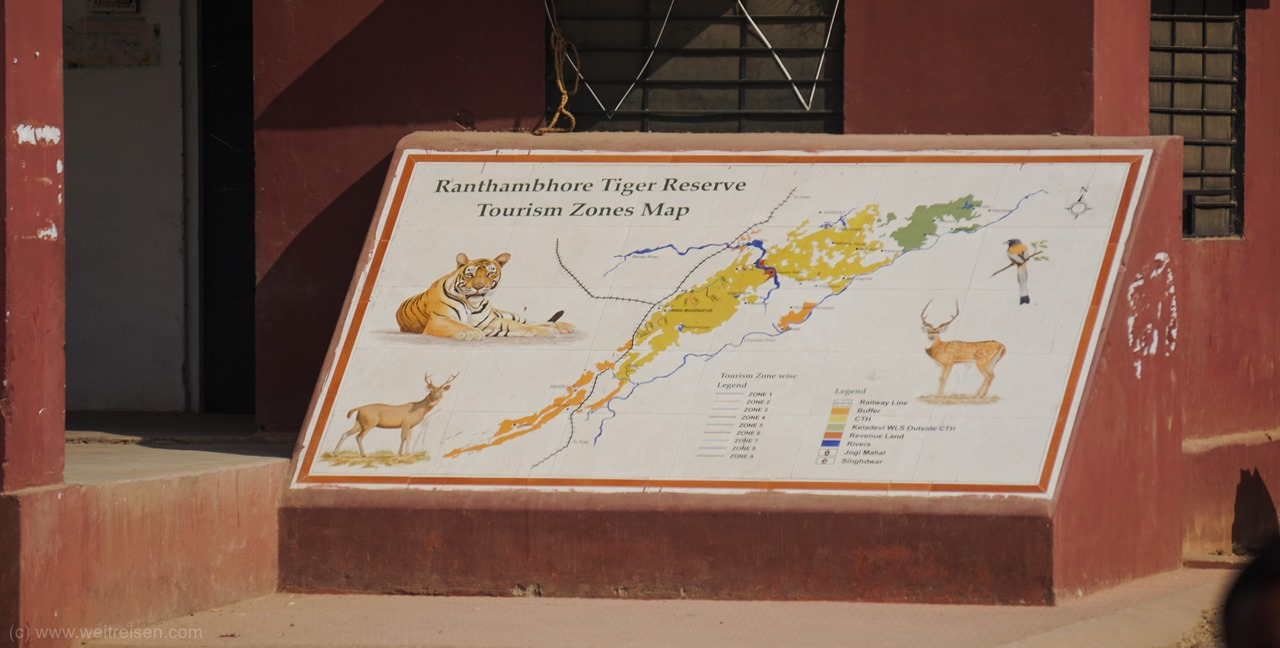 Ranthambhore Nationalpark, Auf Tiger Safari in Indien