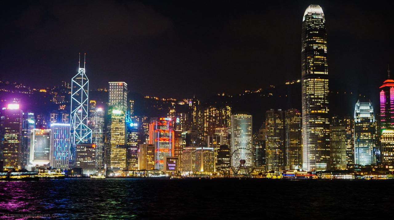 Hongkong, Skyline am Abend