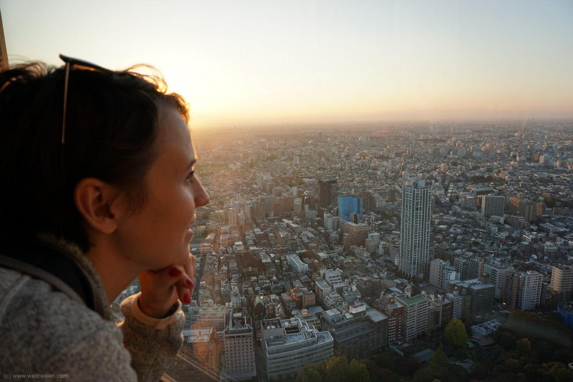 Tokio, kostenloser Ausblick über die Stadt, Tokio Rathaus