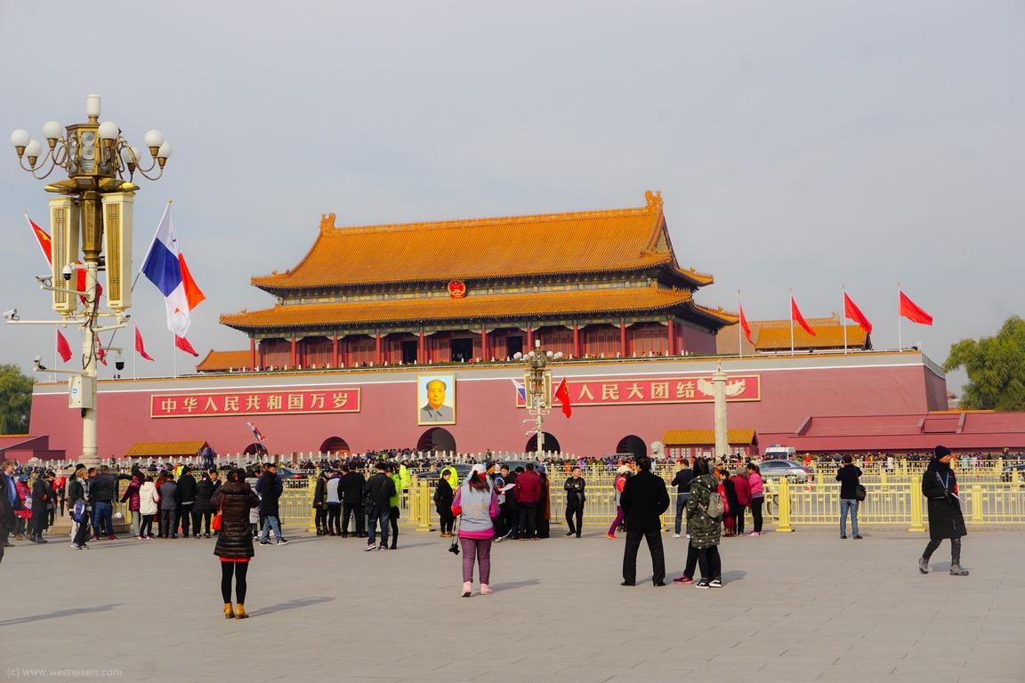 Tor des Himmlischen Friedens, Tian´man Platz, Beijing, Peking