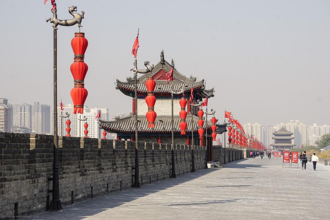 Stadtmauer von Xian, Sehenswürdigkeiten in Xian