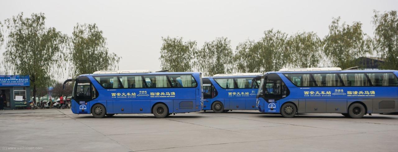 Anreise Terrakotta Armee von Xian,